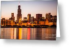 Chicago Downtown City Lakefront with Willis-Sears Tower Greeting Card by Paul Velgos