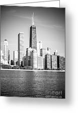 Chicago Hancock Building Black And White Picture Greeting Card by Paul Velgos