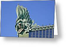 Chicago - Harold Washington Library Greeting Card by Christine Till