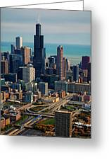 Chicago Highways 05 Greeting Card by Thomas Woolworth