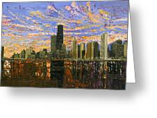 Chicago Greeting Card by Mike Rabe