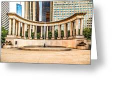 Chicago Millennium Monument In Wrigley Square Greeting Card by Paul Velgos