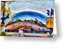 Chicago Reflected Greeting Card by Jeff Kolker