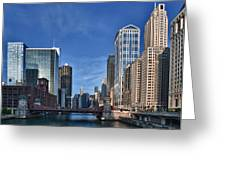 Chicago River Greeting Card by Sebastian Musial