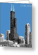 Chicago Sears Tower - Slate Greeting Card by DB Artist