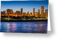 Chicago Skyline Greeting Card by Inge Johnsson