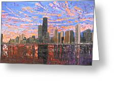 Chicago Skyline - Lake Michigan Greeting Card by Mike Rabe