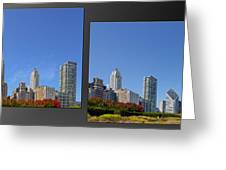 Chicago Skyline Of Superstructures Greeting Card by Christine Till
