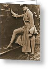 Chicago Suffragette Marching Costume Greeting Card by Padre Art