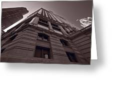 Chicago Towers Bw Greeting Card by Steve Gadomski
