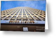 Chicago Union Station Sign And Building Exterior Greeting Card by Paul Velgos