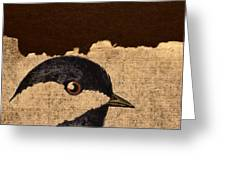 Chickadee Greeting Card by Carol Leigh