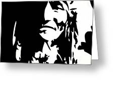 Chief Half In Darkness Greeting Card by HJHunt
