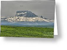 Chief Mountain Montana Greeting Card by Vickie Emms