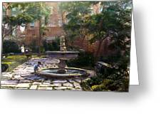 Child And Fountain Greeting Card by Terry Reynoldson