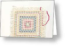 Child embroidery Greeting Card by Kerstin Ivarsson