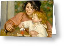 Child With Toys Gabrielle And The Artist S Son Jean Greeting Card by Pierre Auguste Renoir