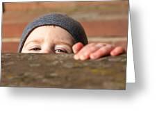 Childlike Curiosity Greeting Card by Bjoern Vilcens
