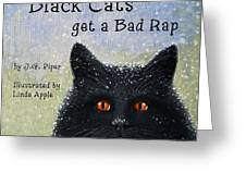 Childrens Book  Black Cats Greeting Card by Linda Apple