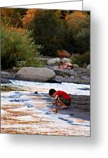Childs Play Greeting Card by Melanie  Lankford Photography