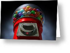 Childs View Of The Gumball Machine Greeting Card by Allan Swart