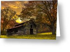 Chill Of An Early Fall Greeting Card by Debra and Dave Vanderlaan