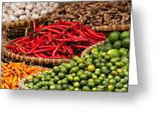 Chillies 01 Greeting Card by Rick Piper Photography