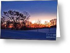 Chilly Beautiful Sunrise Greeting Card by Minding My  Visions by Adri and Ray