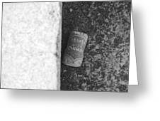 Chimay Wine Cork In Black And White Greeting Card by Rob Hans