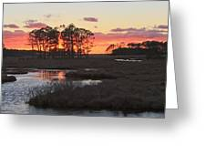 Chincoteague Island Sunset Greeting Card by Jack Nevitt
