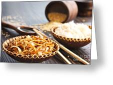Chinese Food Greeting Card by Mythja  Photography