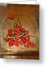 Chinese Lantern Seed Pods Greeting Card by Kume Bryant