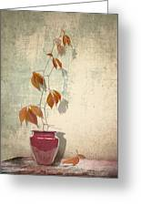 Chinese Vase Greeting Card by Artskratches