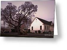 Chino Old School House At Dusk- 03 Greeting Card by Gregory Dyer