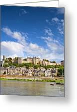 Chinon Loire Valley France Greeting Card by Colin and Linda McKie