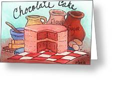 Chocolate Cake Greeting Card by MarLa Hoover