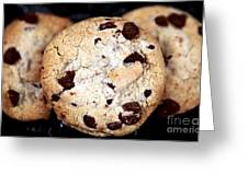 Chocolate Chip Cookies Greeting Card by John Rizzuto
