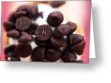 Chocolate Chips Greeting Card by John Rizzuto