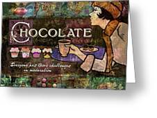 Chocolate Greeting Card by Evie Cook
