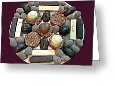 Chocolate Mandala Greeting Card by Ausra Paulauskaite