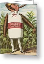 Choice Smoking Greeting Card by Aged Pixel