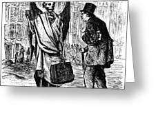 Cholera In Slums, 1866 Greeting Card by Granger