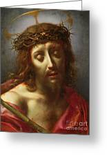 Christ As The Man Of Sorrows Greeting Card by Carlo Dolci