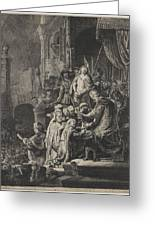 Christ Before Pilate Greeting Card by Rembrandt