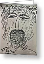 Christ In Distress. Pensive Christ. Chrystus Frasobliwy. By Andrzej Goszcz. Greeting Card by Andrzej Goszcz