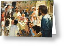 Christ With Children Greeting Card by Peter Seabright