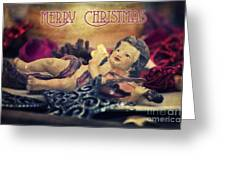 Christmas Angel II Greeting Card by Angela Doelling AD DESIGN Photo and PhotoArt