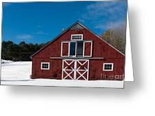 Christmas Barn Greeting Card by Edward Fielding