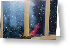 Christmas Candle Greeting Card by Brian Wallace