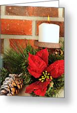 Christmas Candle Greeting Card by Kenneth Sponsler